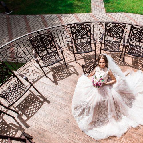 фантастическое свадебное платье